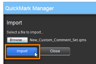 QuickMark Manager Import