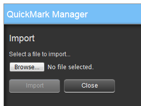QuickMark Manager Close