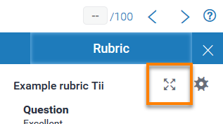 Expand Rubric Button