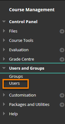 Control Panel, Users and Groups, selecting users