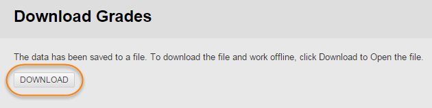 Download grade Download button