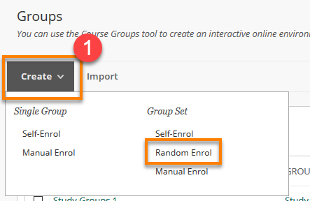 random Enrol Create Menu
