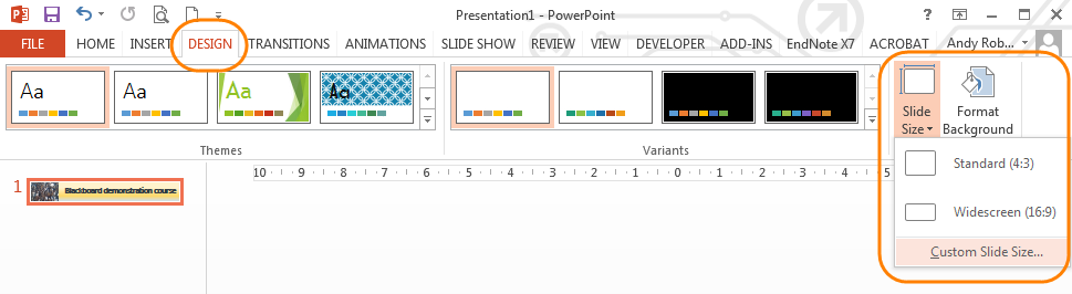 Customising your banner in powerpoint