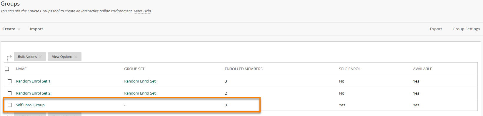 Showing self enrol group in Groups page