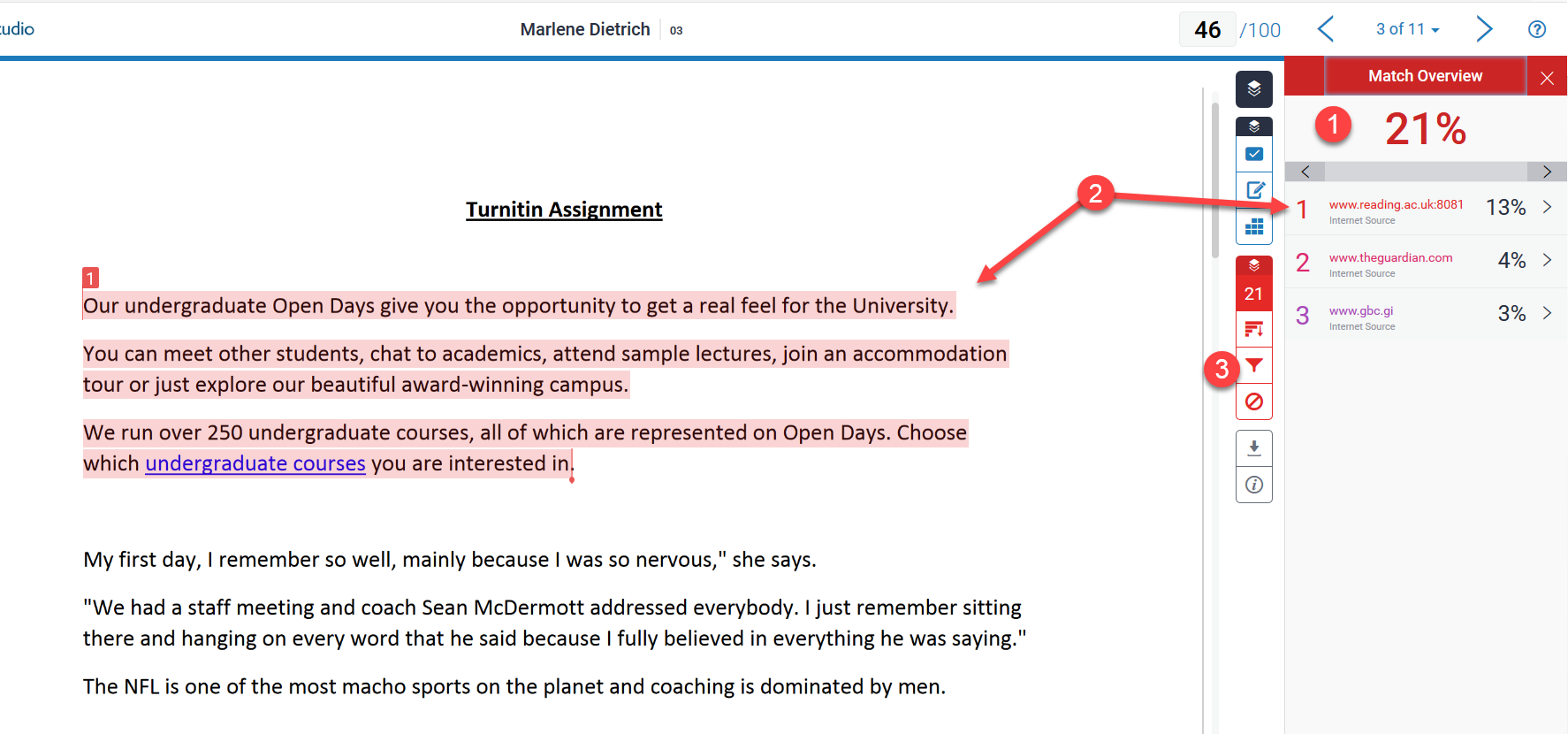 Turnitin: A staff guide to viewing the Similarity Report