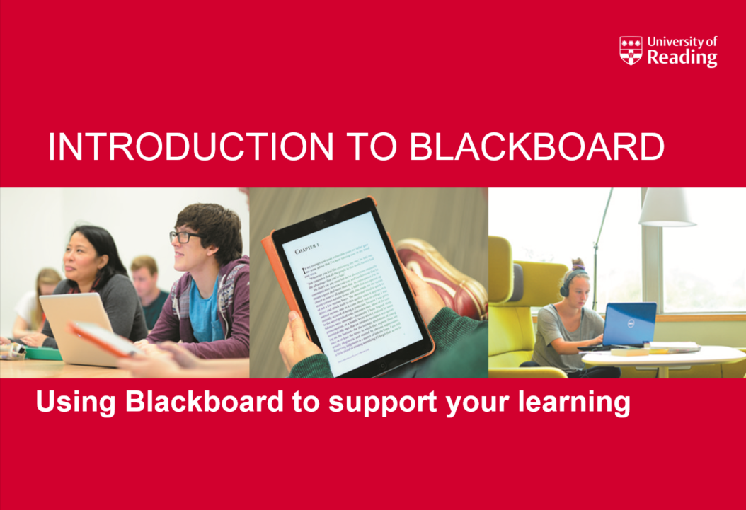 Student Introduction to Blackboard powerpoint front page.