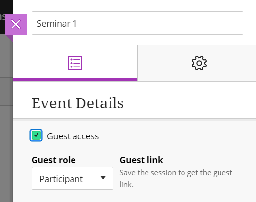 Collaborate - enable Guest access