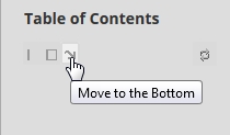Move to the Bottom button