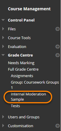 The view of a course menu with the new smart view favourite highlighted