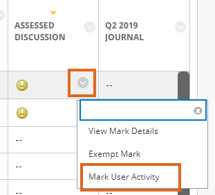 Mark User Activity