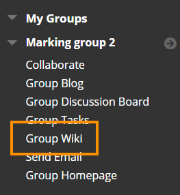Student link to Group Wiki