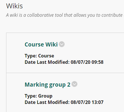 Wikis - Student view
